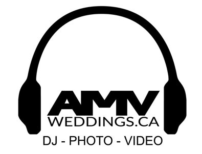 AMV wedding photo, video, DJ in Hamilton, Niagara, St Catharines, Toronto, GTA logo
